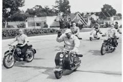 Perón en desfile