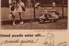 """Publicidad de Siambretta """"Ud puede estar allí"""" 1"""