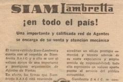 """Publicidad """"Siamlambretta en todo el pais"""""""